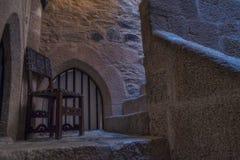 Krzesło na grodowi schodki Zdjęcia Stock