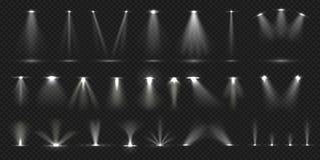 Krzes?o na scenie Pokazuje scenie lekkiego skutek, zaświecająca koncertowa scena dla teatr galerii dyskoteki klubu Wektor realist ilustracji