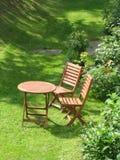 krzesło ogród Obrazy Royalty Free
