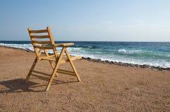 krzesło osamotniony Obrazy Royalty Free