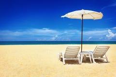 krzesło parasol dwa Fotografia Stock