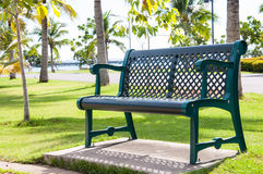 Krzesło park. Obraz Royalty Free