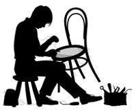 Krzesło producenta sylwetka Zdjęcia Royalty Free