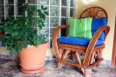 krzesło taras Obrazy Royalty Free