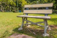 Krzesło w ogrodowym tle Thailand obrazy stock