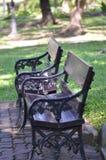 Krzesło w parku zdjęcia stock