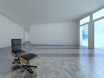 Krzesło w pokoju, 3d Obrazy Royalty Free