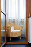 krzesło wikliny Obrazy Royalty Free