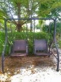 Krzesło wyplata Zdjęcia Royalty Free