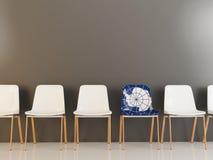 Krzesło z flaga Antarctica ilustracja wektor