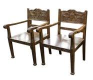 Krzesło z woodcarving Zdjęcie Stock