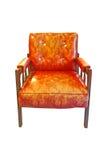 krzesła stary rzemienny Fotografia Royalty Free