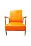 krzesła stary rzemienny Obrazy Royalty Free
