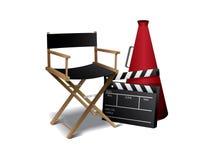 krzesła dyrektor film Zdjęcia Royalty Free