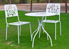 krzeseł gazonu stołu biel Obraz Stock
