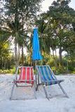 krzeseł plażowych deck Obraz Stock