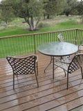 krzeseł pokładu stół Zdjęcie Royalty Free