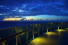 krzeseł rejsu holu oceanu rzędu statek Zdjęcia Royalty Free
