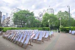 krzeseł miasta London park Zdjęcia Royalty Free