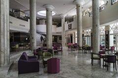 krzesło lobby hotelu tabela kanap whit Zdjęcie Stock