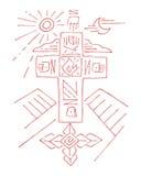 Krzyż życie ilustracji