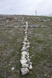 Krzyż blisko kościelnego świętego Zoravar Obrazy Royalty Free