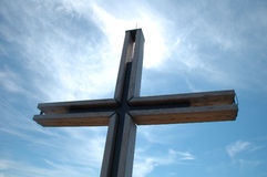 Krzyż i niebo Obrazy Royalty Free