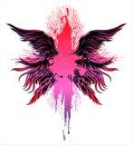 Krzyż korzenie z ogromną liczbą anielscy skrzydła ilustracja wektor