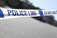 krzyż linię policji zdjęcie royalty free