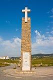 Krzyż na Cabo da Roca (przylądek Roca) Obraz Stock