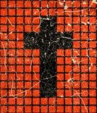 Krzyż na grunge royalty ilustracja