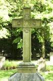 Krzyż na starym Cemetry Zdjęcia Stock