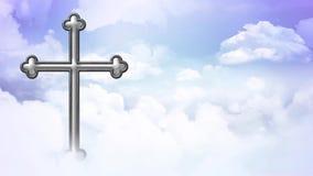 Krzyż Nad chmury pętla ilustracji