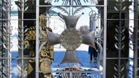 Krzyż przy grobowem Niewiadomy żołnierz fotografia stock