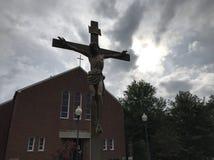 Krzyż przy St Vincent De Paul kościół zdjęcie royalty free