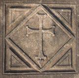 Krzyż w Kaunos kościół Obrazy Royalty Free