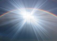 Krzyż w niebie Zdjęcia Stock