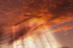 Krzyż w niebie zdjęcie royalty free