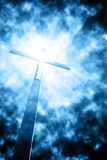 Krzyż w sunrays zdjęcie stock