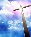 Krzyż w sunrays ilustracja wektor