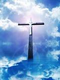 Krzyż w sunrays ilustracji