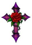 Krzyż z wzrastał Obrazy Stock