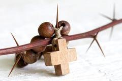 Krzyża i cierni Easter religii abstrakcjonistyczny pojęcie Obraz Royalty Free