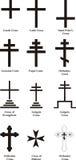 krzyże chrześcijańskich ilustracja wektor