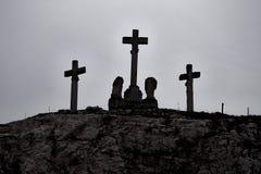 Krzyże na wzgórzu obraz stock