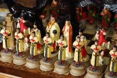 Krzyżowów szachowi kawałki Obraz Royalty Free