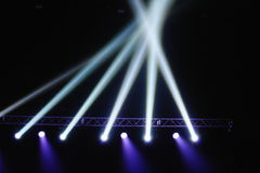 Krzyżować światła w przedstawienie czasie Zdjęcie Stock