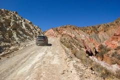 krzyżować północ Argentyna w ciężarówce obraz stock