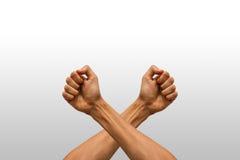 Krzyżować ręki Zdjęcie Stock