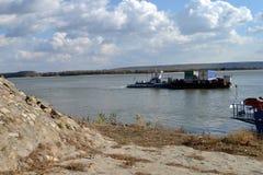Krzyżować Rzecznego Danube w Calarasi obraz royalty free